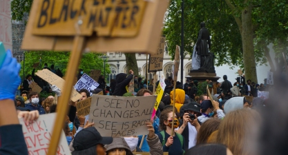 A 'Black Lives Matter' protest in London. Photograph taken by Daniella Ekundayo