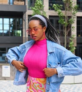 Amanda Shodeko captured in London by Daniella Ekundayo